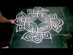 HOW TO DRAW A PADI KOLAM - YouTube Rangoli Borders, Rangoli Border Designs, Kolam Rangoli, Flower Rangoli, Beautiful Rangoli Designs, Kolam Designs, Mehandi Designs, Rangoli With Dots, Simple Rangoli