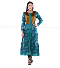 Something blue to take away the blues from Monday. Lovely matka silk kurta. Tip: can be worn with jeans for that contemporary look or with a plazzo/salwar for a more ethnic appeal.  Shop on at http://www.simplekaur.com/Singles/Blue-matka-silk-front-slit-kurta-id-2533072.html