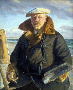 Michael Ancher (Danish, 1849-1927),Self-Portrait, 1902. Oil on canvas, 110 x 88cm. Statens Museum for Kunst, Copenhagen.