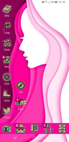 Happy Friday Everyone! I hope you all had a Happy Thanksgiving! Yesterday I Styled Dizzy Icon Set on my Samsung Galaxy S8 Plus with a Pink Silhouette Wallpaper. I hope you have a Great Weekend! Tha…