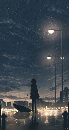 Anime Backgrounds Wallpapers, Anime Scenery Wallpaper, Anime Artwork, Animes Wallpapers, Sky Anime, Dark Anime, Sad Anime Girl, Anime Art Girl, Applis Photo