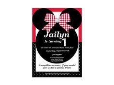 Minnie Mouse Birthday Invitation  Customized by MyFashionLove, $5.00