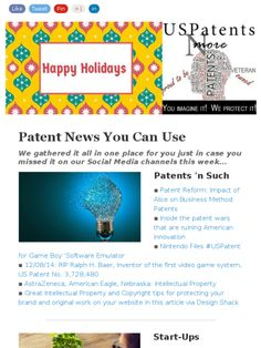 Check out this Mad Mimi newsletter: Patent News You Can Use