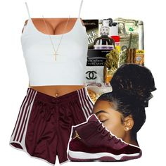 A fashion look from December 2016 featuring Topshop tops, adidas and Gucci necklaces. Browse and shop related looks.