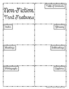 Nonfiction Text Feature Posters and Mini-Posters | Nonfiction Text ...