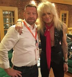 Credit to the man next to Michael in this photo. Looking very good Michael! #MichaelMonroe #Legend #Icon #HanoiRocks