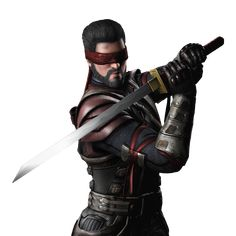 When the sorcerer Shang Tsung duped him into retrieving the enchanted sword Sento from the Well of Souls, the result left Kenshi sightless. Description from mortalkombatwarehouse.com. I searched for this on bing.com/images