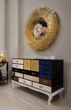 Exclusive sideboards are necessary in order to create a luxury home. These exquisite items are able to upscale any living room or dining area. #bocadolobo #luxuryfurniture #interiordesign #designideas #livingroom #modernlivingroom #decorideas #homeandecoration #livingroomideas #interiodesign #decor #homedecor #livingroomdecor #interiordesigninspiration #interiorinspiration #luxuryinteriordesign #homedecor #decorations #homedecor #buffetsandcabinets Dining Decor, Dining Room Design, Living Room Decor, Unique Furniture, Luxury Furniture, Furniture Design, Luxury Interior Design, Interior Design Inspiration, Modern Cabinets