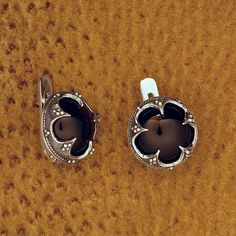 Sterling Silver earrings Gotland with a Rock Crystal Viking jewellery
