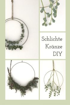 Superschönes und einfaches DIY im Boho Stil! Schlichte Eukalyptus-Kränze binden mit Messingring , Anleitung zum selbermachen #wreath #boho #eucalyptuswreath
