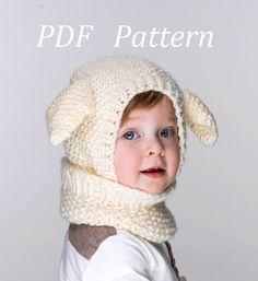 PDF+Little+Lamb+Coverall+Hat+Pattern+от+NYrika+на+Etsy