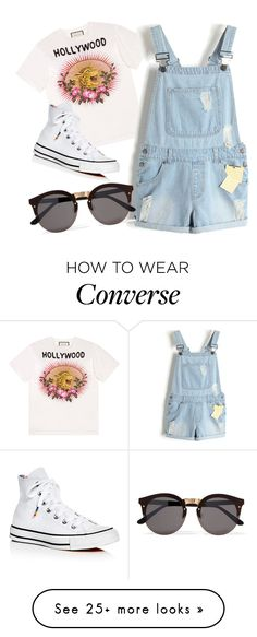 """""""Jumpsuit"""" by artwonders97 on Polyvore featuring Gucci, Converse and Illesteva"""