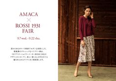 """""""The Italian Beauty."""" by Amaca.  Rossi 1931 holds an important partnership, in the fashion industry, with the Japanese lady's brand AMACA by SANYO SHOKAI. Some of the most famous floral designs of Rossi 1931, were used in the creation of the 2016 Autumn & Winter AMACA collection.  SANYO SHOKAI Ltd. is a Japan-based company established in 1943, manufacturing and selling of men's, women's and accessories  www.amaca.jp"""