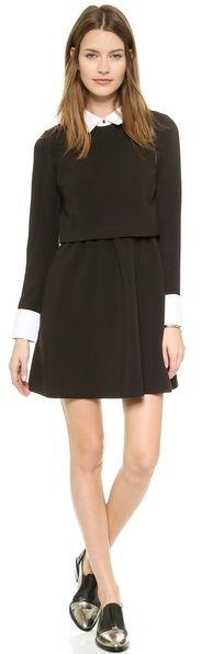 $295, Rachel Zoe Onyx Collared Fit Flare Dress. Sold by shopbop.com.
