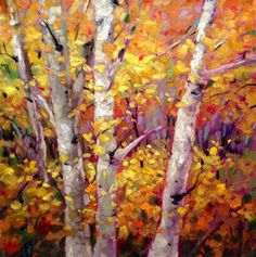 Autumn's Song - Original Fine Art for Sale - � by Krista Eaton
