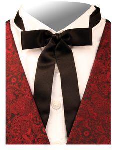 Deluxe Western Bow Tie - Black [001220]