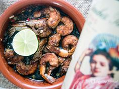 shrimps with lime and curry / gambas de limón y curry