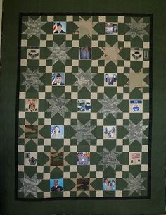 Military Quilt Using Uniforms Quilts Quilts Camo