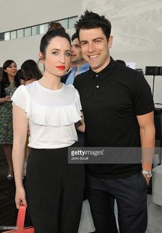 Actors Zoe Lister-Jones and Max Greenfield attend MPTF NextGen Launch Event at…
