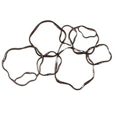 Aurelle Home Abstract Metal Ring Wall Decor