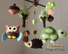 forest baby mobile