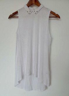 Kup mój przedmiot na #vintedpl http://www.vinted.pl/damska-odziez/bluzki-bez-rekawow/10371889-asymetryczna-bluzka-cwieki-kolnierzyk