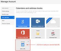 Doodle, kalenteri, integraatio, ICS feed –Add a URL