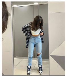 Tomboy Fashion, Teen Fashion Outfits, Retro Outfits, Cute Casual Outfits, Simple Outfits, Look Fashion, Streetwear Fashion, Stylish Outfits, Sweat Streetwear