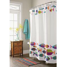 Calypso Fish Shower Curtain | The Company Store - Care for a swim?