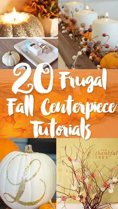 I wish I was half as crafty as the amazing bloggers we've featured in this inexpensive centerpiece roundup for fall and Thanksgiving. Honestly, I wish some of them could come to my house and show me