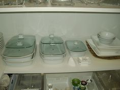 Organização de refratários e tijelas