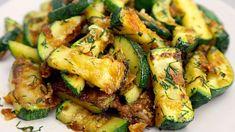 Ich habe noch nie so leckere Zucchini gegessen! Einfach und schnell zubereitet! - YouTube Best Zucchini Recipes, Raw Food Recipes, Vegetable Recipes, Easy Dinner Recipes, Indian Food Recipes, Vegetarian Recipes, Cooking Recipes, Healthy Recipes, Veggie Side Dishes