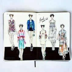 Vera Wang Sketchbook Like Vera Wang's facebook,... | Fashionary Hand - A Fashion Illustration Blog