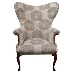 Check out this item at One Kings Lane! 1940s Butterfly Wingback Floral Chair