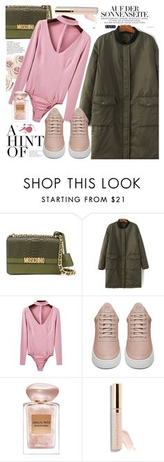 Street Style by vanjazivadinovic on Polyvore featuring Filling Pieces, Moschino, Beautycounter, Giorgio Armani and polyvoreeditorial