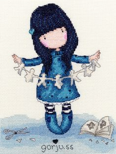 """I Found My Family In A Book"" cross stitch kit"
