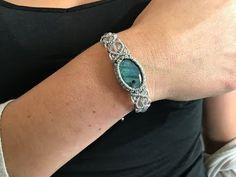Makramee-Armband - Makrame Simple Home Decor Macrame Necklace, Macrame Jewelry, Macrame Bracelets, Diy Necklace, Jewelry Bracelets, Ankle Bracelets, Crochet Bracelet Tutorial, Macrame Tutorial, Micro Macramé