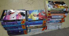 Harlequin Lot of 35Vintage Romance Novels pb 2 are NASCAR,many intrigue,presents