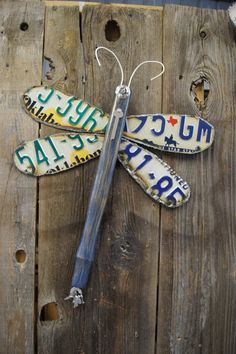 licence plate crafts | License Plate Dragonfly by Repurposedlifeokla on Etsy, ... | Craft Id ...