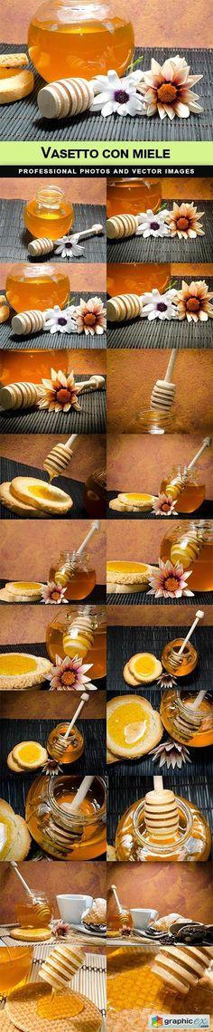 Vasetto con miele  stock images