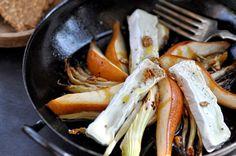 Geschmorte Fenchel- und Birnenspalten mit Camembert - Kubiena - Kochblog
