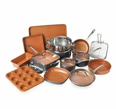 20 Piece All in One Kitchen Cookware + Bakeware Set with Nonstick Durable #Kitchen