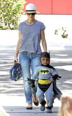 Sandra Bullock, Louis Bullock  So cute! She lets him dress up like batman too!!!