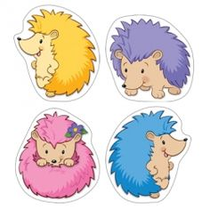 Happy Hedgehogs Colorful Cut-Outs®