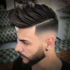 30 High Fade Pompadour Hairstyle Worth Watching in 2019 Mens Hairstyles Pompadour, Mens Modern Hairstyles, Cool Hairstyles For Men, Top Hairstyles, Trending Hairstyles, Hairstyles Pictures, Japanese Hairstyles, Korean Hairstyles, Popular Hairstyles