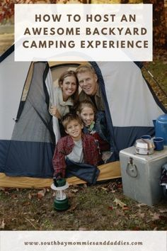 HOW TO HOST AN AWESOME BACKYARD CAMPING EXPERIENCE