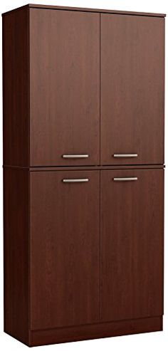 South Shore Axess 4-Door Armoire, Royal Cherry #South #Shore #Axess #Door #Armoire, #Royal #Cherry