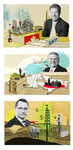 Portraits for Alberta Oil magazine by Katy Lemay