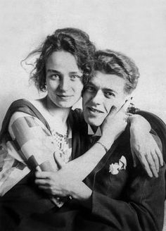 René Magritte and his wife Georgette Magritte in 1929