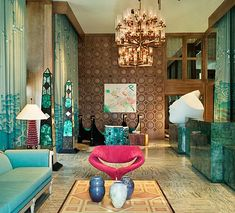 Kelly Wearstler Decorating Ideas | kelly wearstler hotel design malachite Let It Sparkle: Decorating with ...